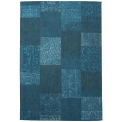Blauw-patchwork-vloerkleed