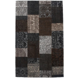 Laagpolig-vloerkleed-patchwork-bruin1