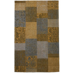 Laagpolig-vloerkleed-patchwork-geel1