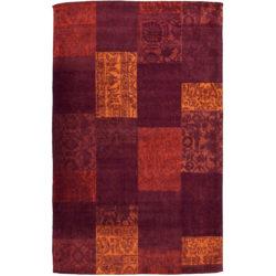 Laagpolig-vloerkleed-patchwork-rood1