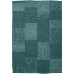 aqua-blauw-patchwork-vloerkleed