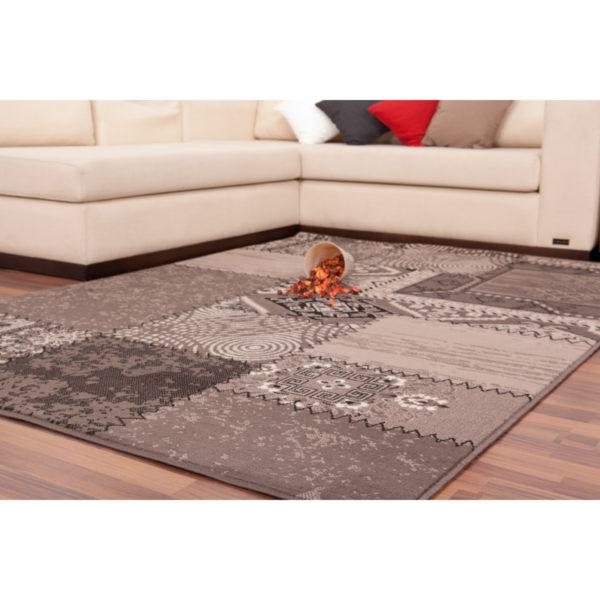 Bruin patchwork karpet