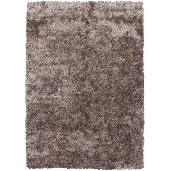 Hoogpolig bruin shaggy vloerkleed