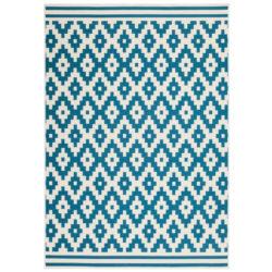 design-vloerkleed-ruit-blauw