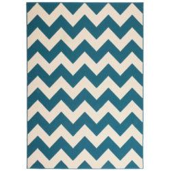 design-vloerkleed-streep-blauw
