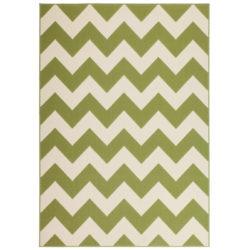 design-vloerkleed-streep-groen