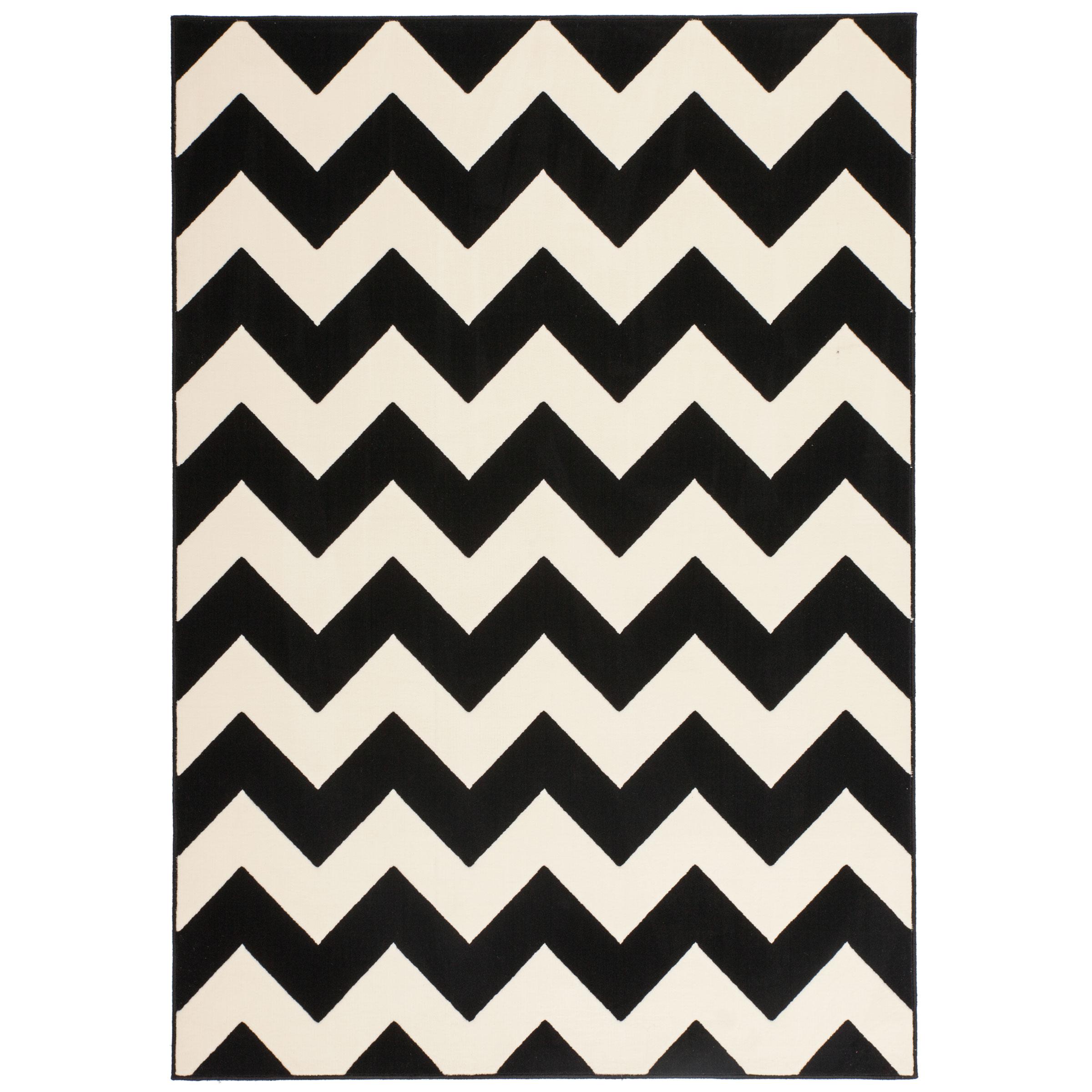 Wonderbaarlijk Wit met zwart design vloerkleed kopen?   Vloerkleden CD-06