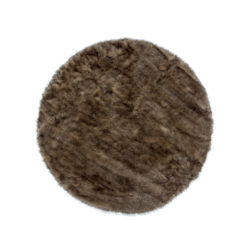 rond-bruin-hoogpolig-vloerkleed