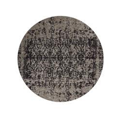 rond-tapijt-zwart-faded