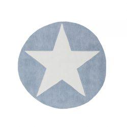 Rond blauw kinderkamer vloerkleed