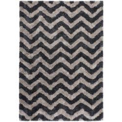 Hoogpolig design vloerkleed grijs