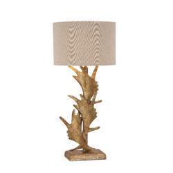 Tafellamp-Gewei-Goud-design