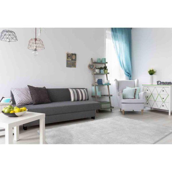 Hoogpolige tapijten zilvergrijs