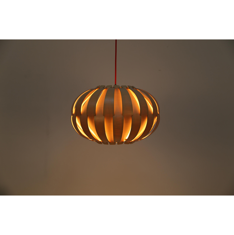 Spiksplinternieuw Ronde houten hanglamp kopen? | Houten lampen | kameraankleden.nl BK-62