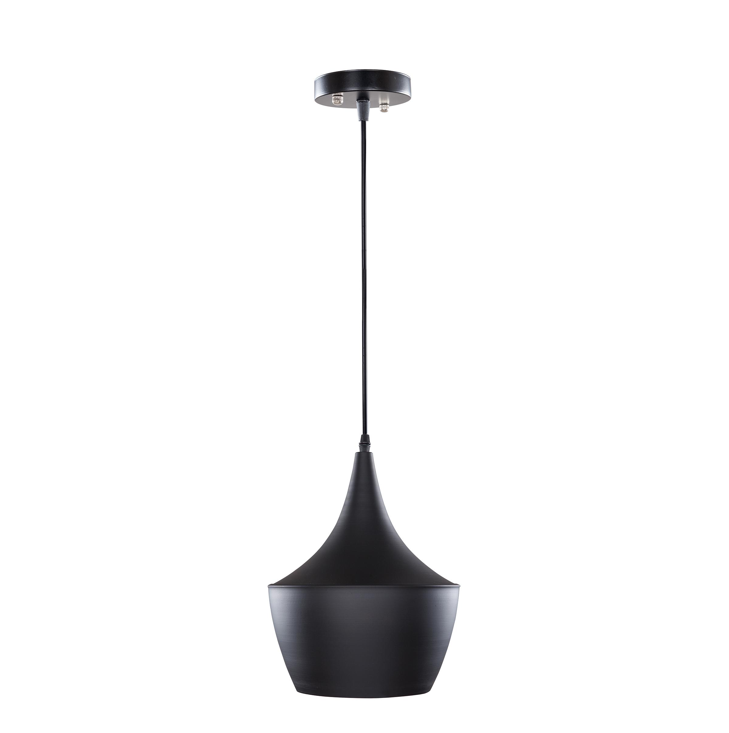 Zwarte designlamp met gouden binnenkant kopen for Koper design