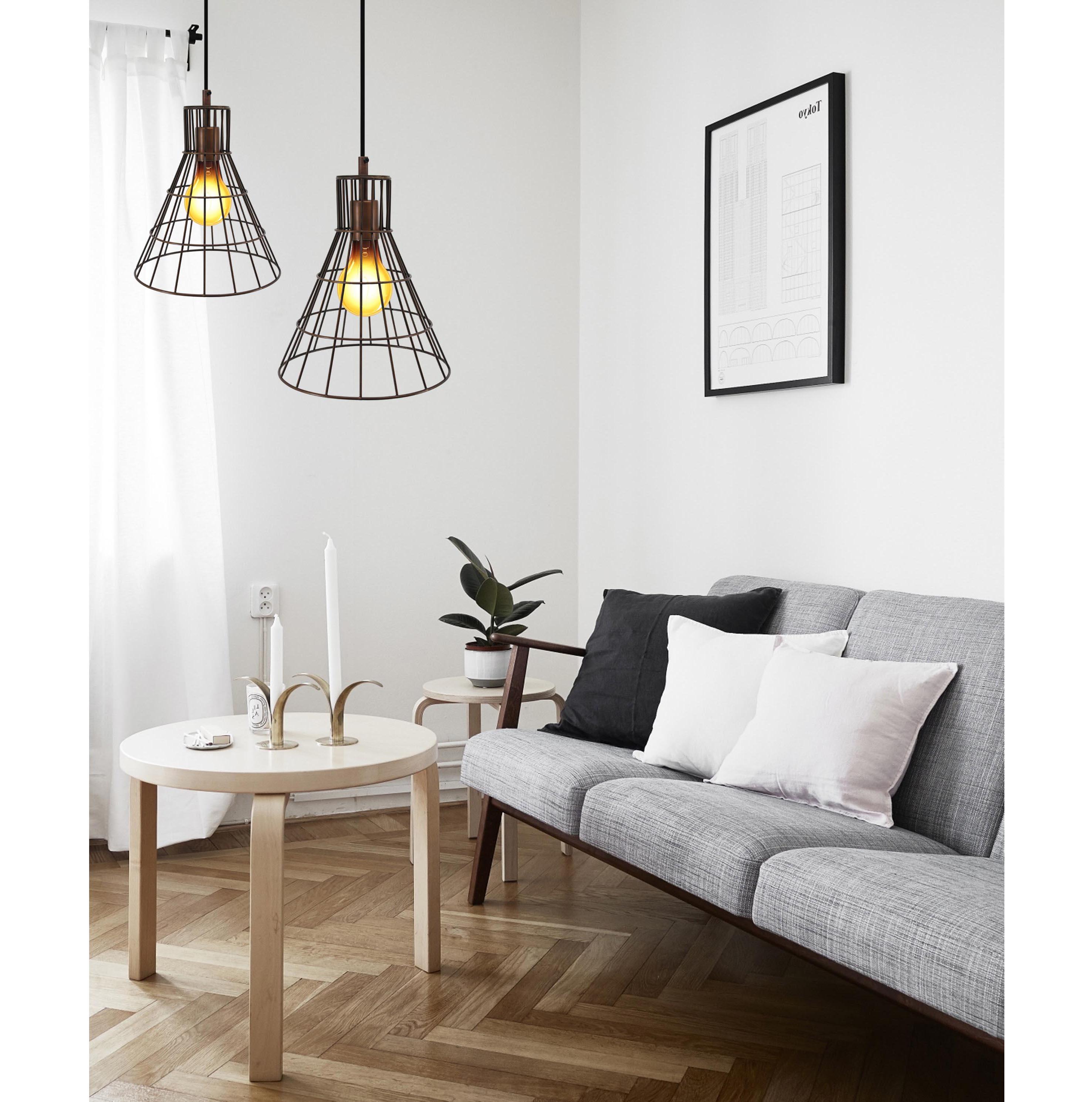 Industri le koperen lamp van staaldraad kopen for Koper design