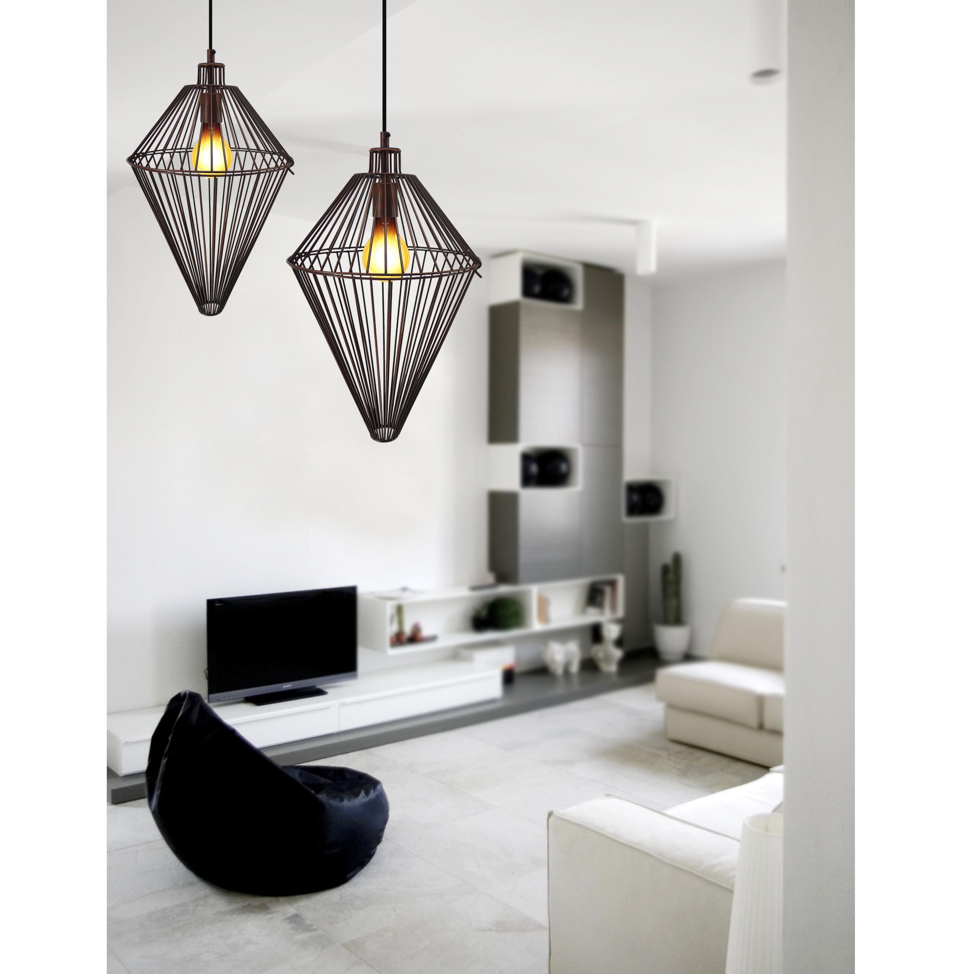 Industriele hanglamp van koper kleurig staaldraad for Koper design