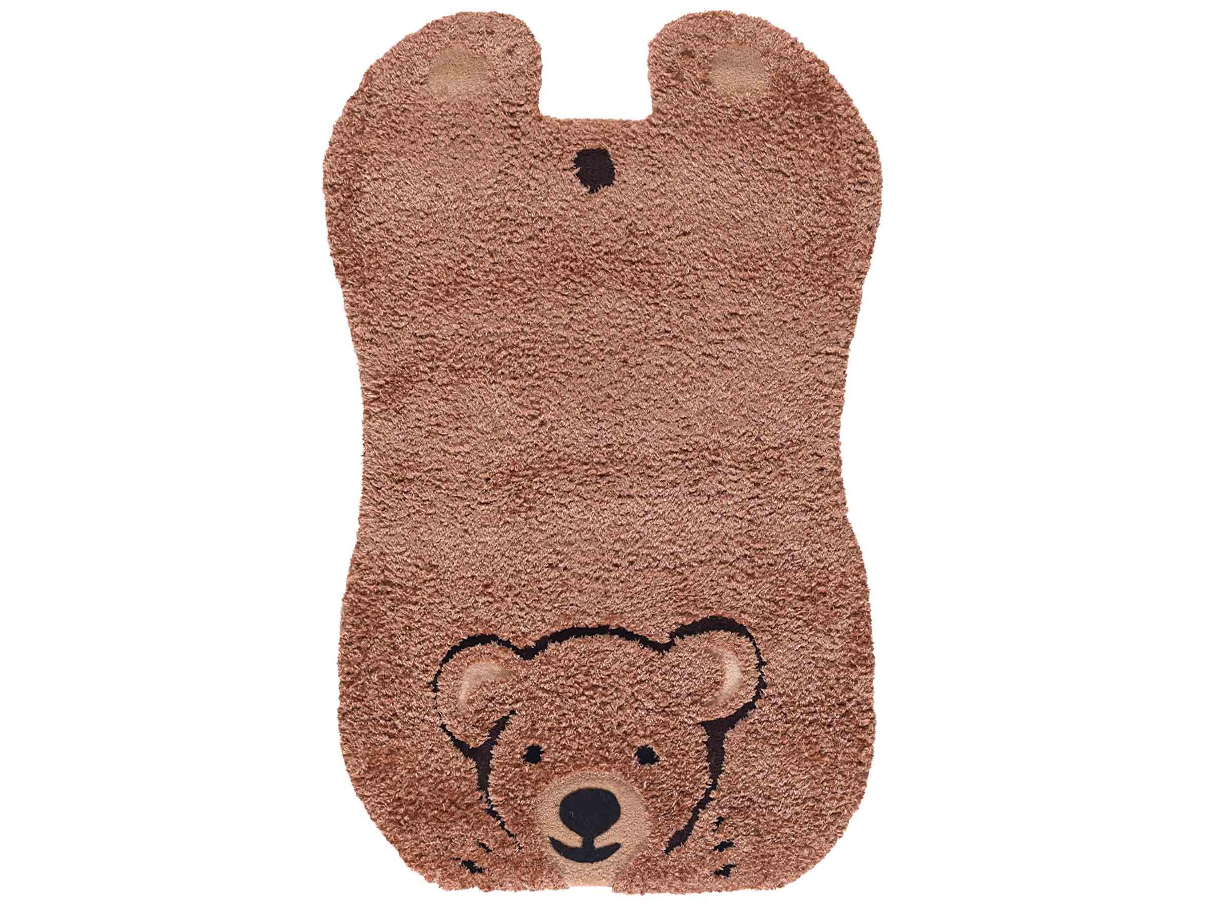 Comfortabel Vloerkleed Babykamer : Baby vloerkleed kopen babykamer vloerkleed beer bruin lief