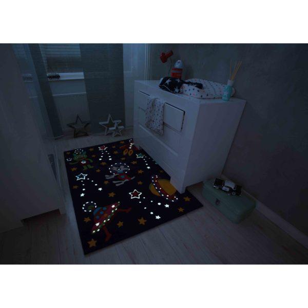 Kindervloerkleed Glow-in-the-Dark Space