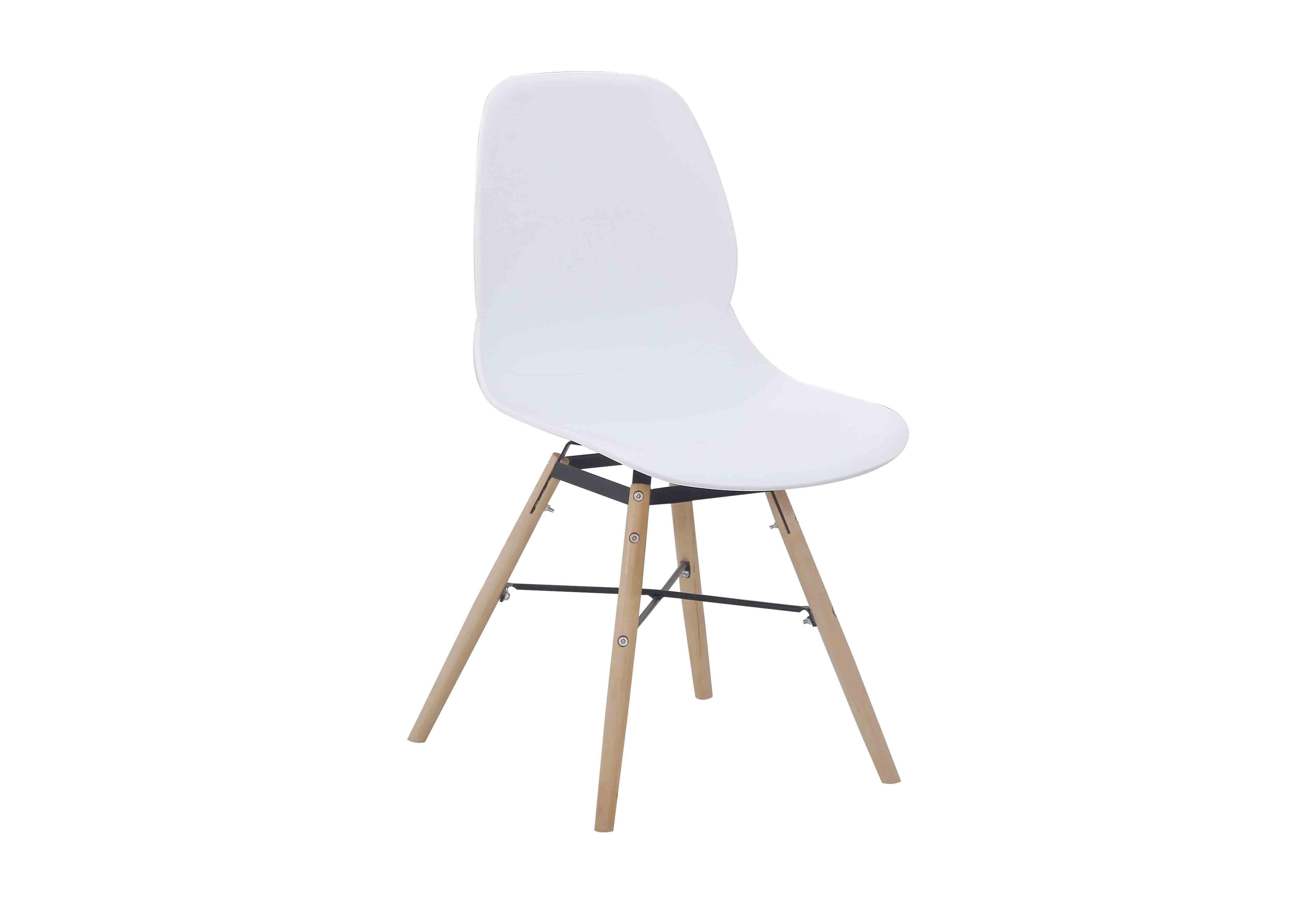 Witte design eetkamerstoel van kunststof set van 2 for Design stoel wit