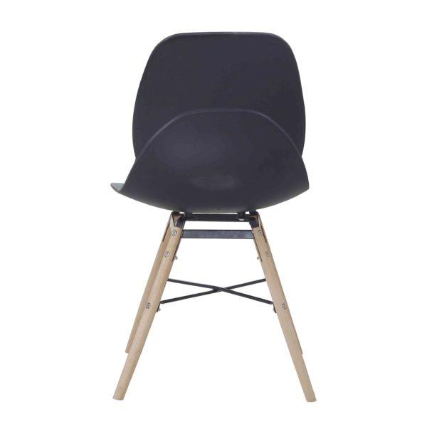 Stoel Modern Design Flat Zwart