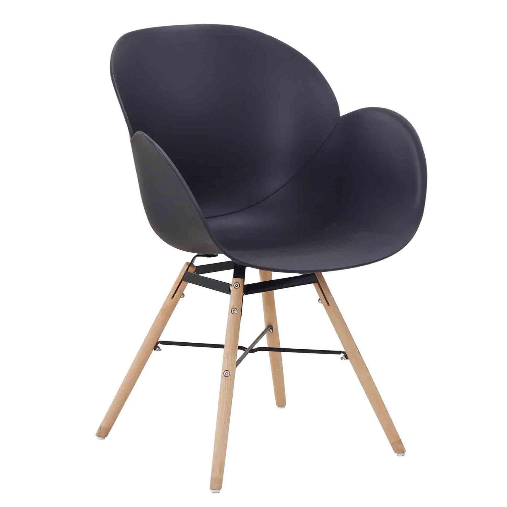 Zwarte kunststof eetkamerstoelen kopen stoelen for Zwarte eetkamerstoelen