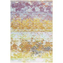 Geel retro vloerkleed paars