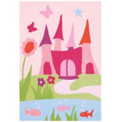 meisjes-babykamer-vloerkleed-kasteel-roze