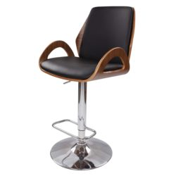 Barkruk Design Gooze Hout-Zwart