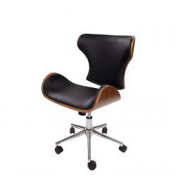 Design Bureaustoel Mikana Hout-Zwart