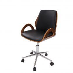 Design Bureaustoel Owan Hout-Zwart