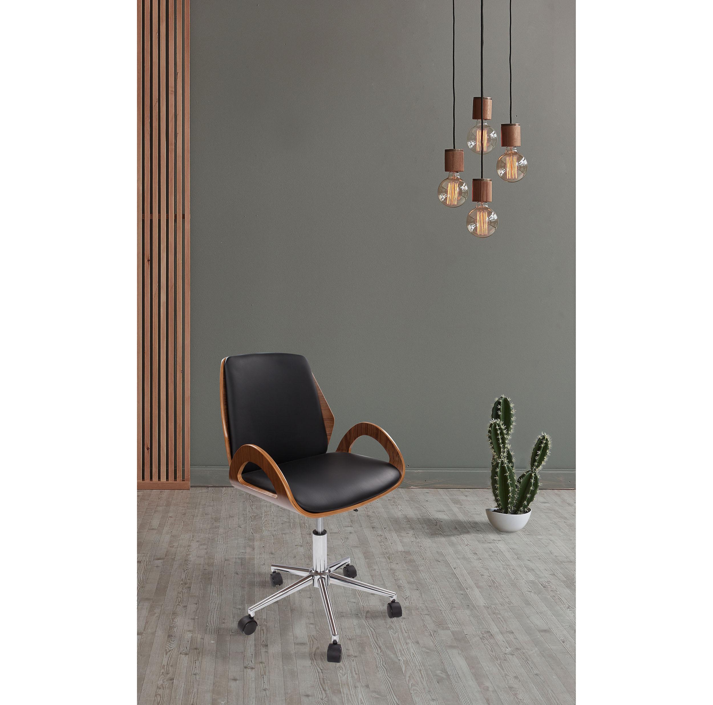 Bureaustoel Zwart Design.Design Bureaustoel Van Hout Bureaustoelen Kameraankleden Nl