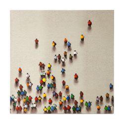 Schilderij Olieverf Mensen 90x90cm