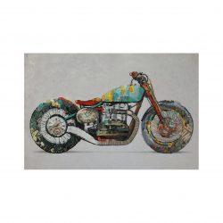 Schilderij Olieverf Motorfiets 60x90cm