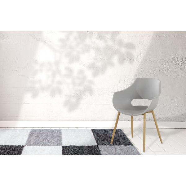 Grijze design stoel eetkamer