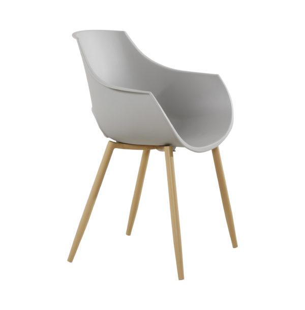 grijze design stoel