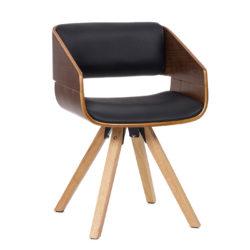 Stoel Modern Design Jonas Hout-Zwart