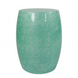 Sidetable Baril Metal Turquoise