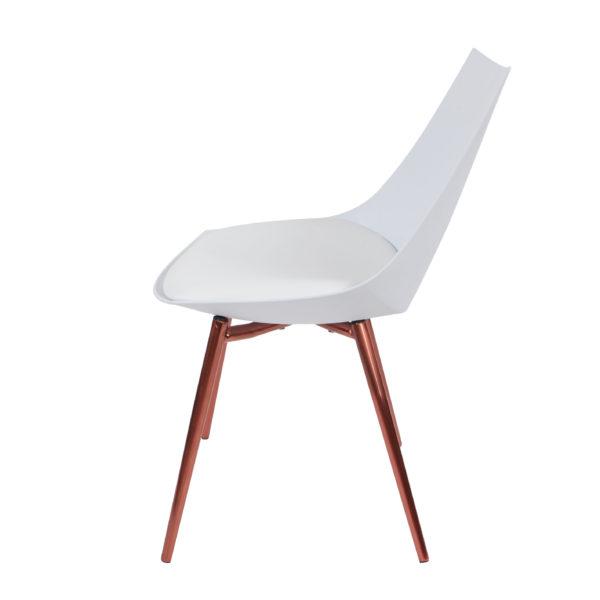 Eetkamerstoelen-wit-koperen-stoelpoten