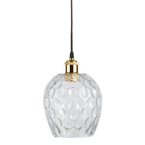 Transparante glazen hanglamp Coro