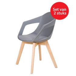Design eetkamerstoelen Sandra Grijs (2 stuks)