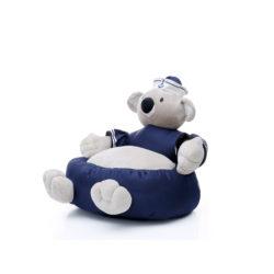 Kinderzitzak Koala Blauw-Wit