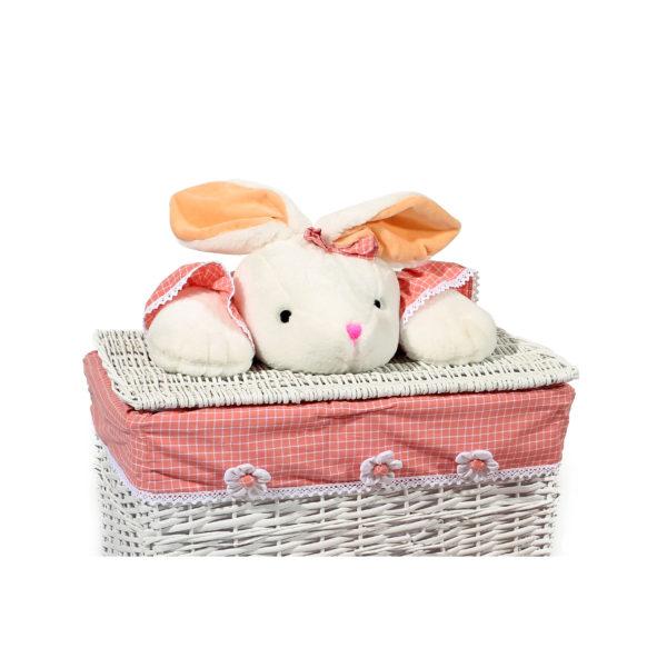 Mandenset Bunny Roze-Wit