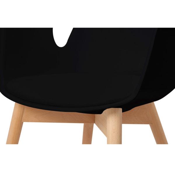 Zwarte eetkamerstoelen met hout