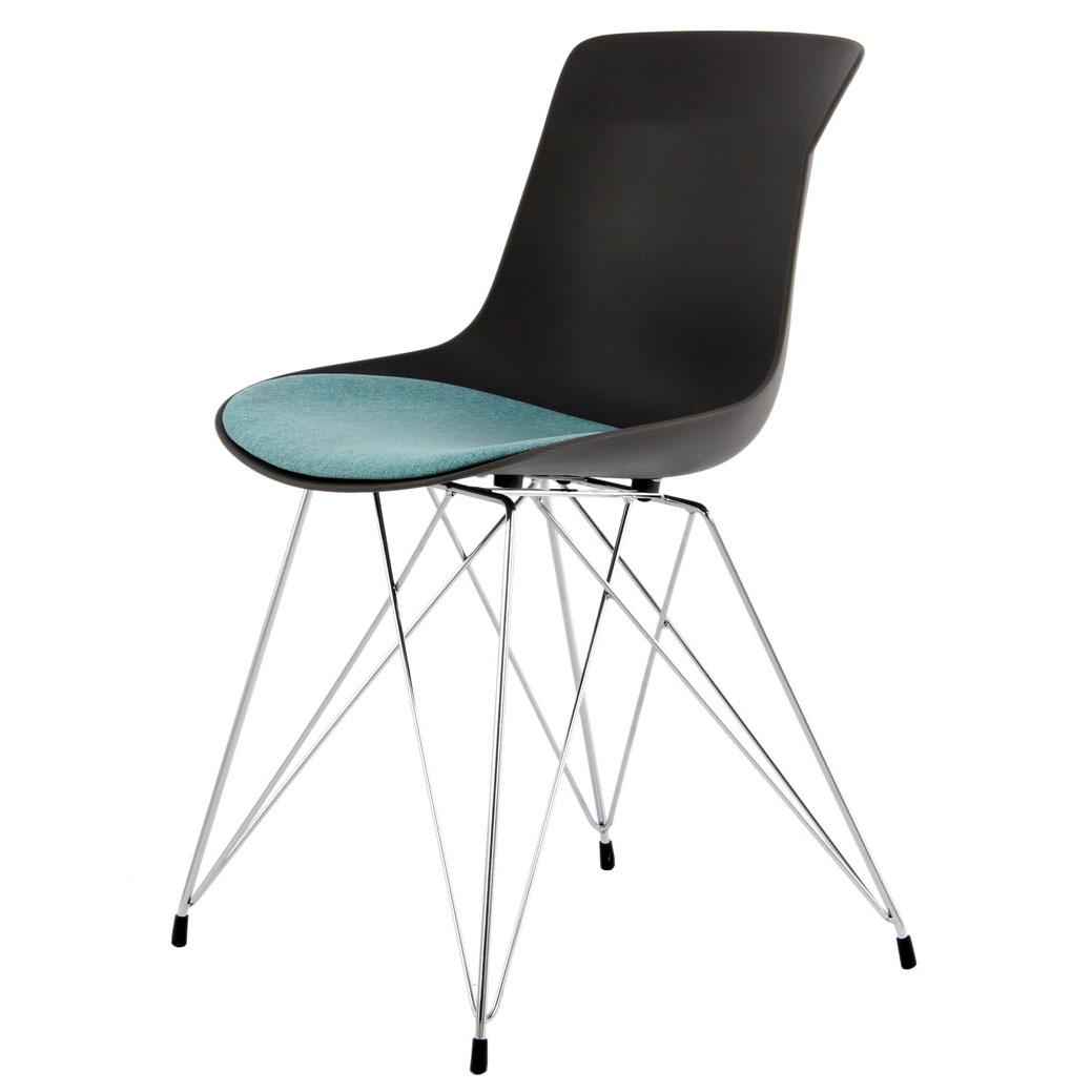 Zwarte kunststof eettafel stoelen kopen stoelen for Zwarte eettafel stoelen