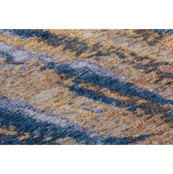 Blauw vintage design vloerkleed