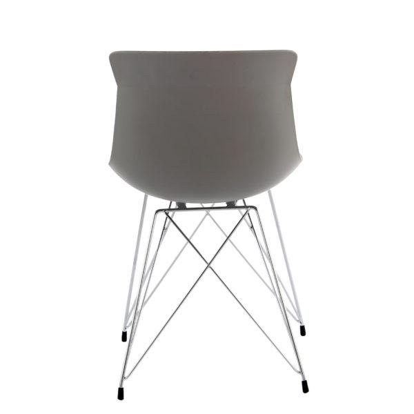 grijze kunststof eettafel stoelen