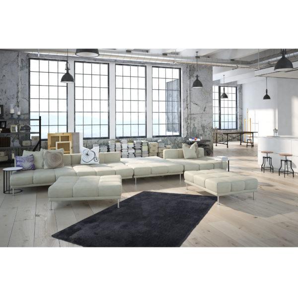 Antraciet hoogpolig tapijt