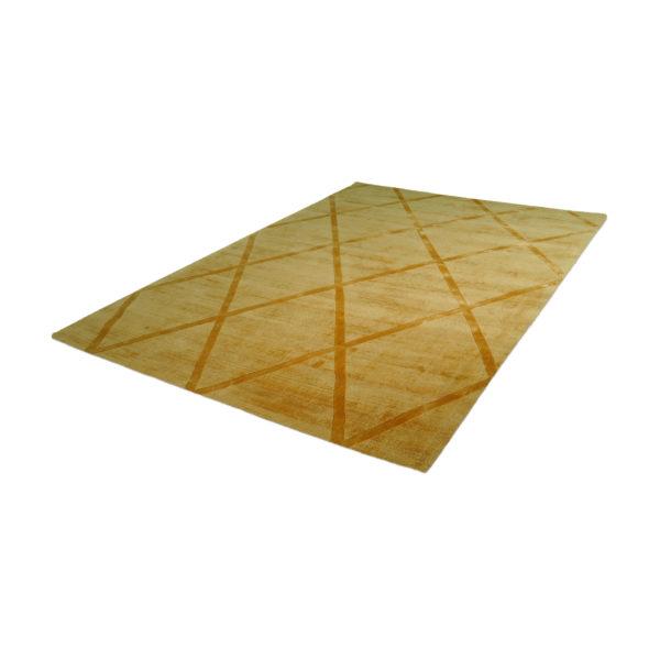 Geel-design-vloerkleed-ruit