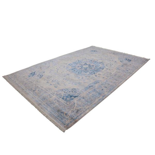 Lichtblauw vintage tapijt Dali